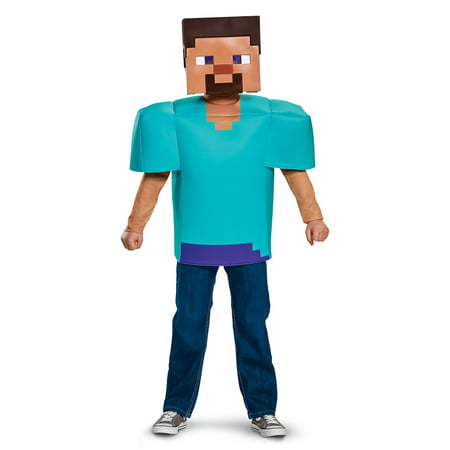 Minecraft - Steve Classic Child - Minecraft Creeper Costume Kids