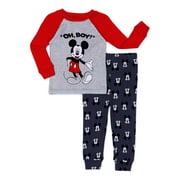 Mickey Mouse Baby Boy Sleepwear Set, 2-Piece