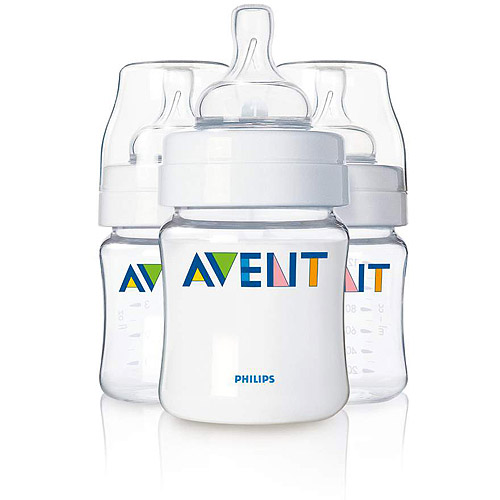Philips AVENT SCF680/37 BPA Free Classic 4 Ounce Polypropylene Bottles, 3-Pack