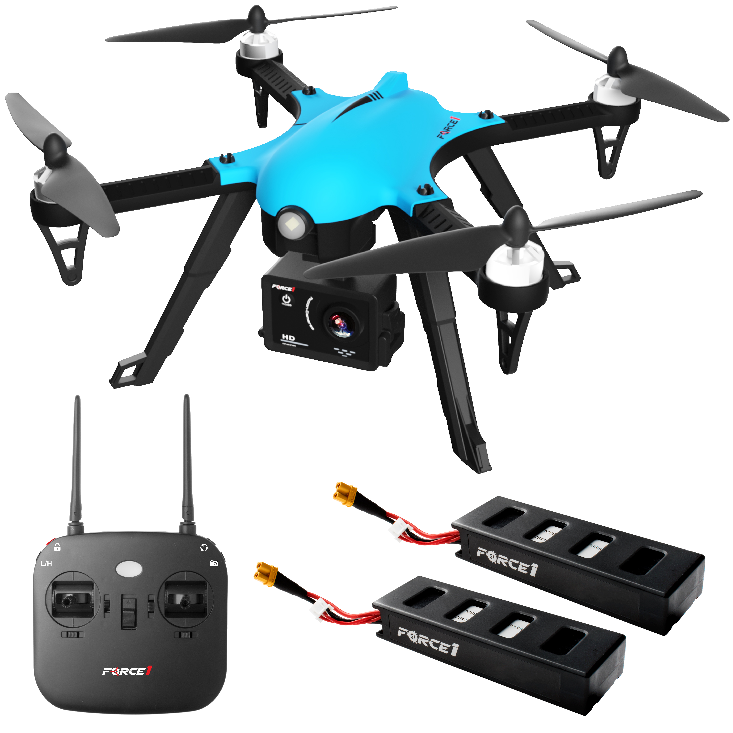GoPro Ready HD Camera Drone F100 Ghost Ultimate Drone Package Long Range 1080p HD Drone with Camera and... by Force1