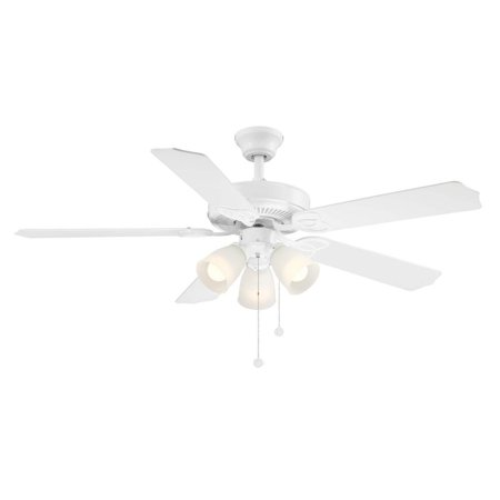Brookhurst 52 In Indoor White Ceiling Fan With Light Kit