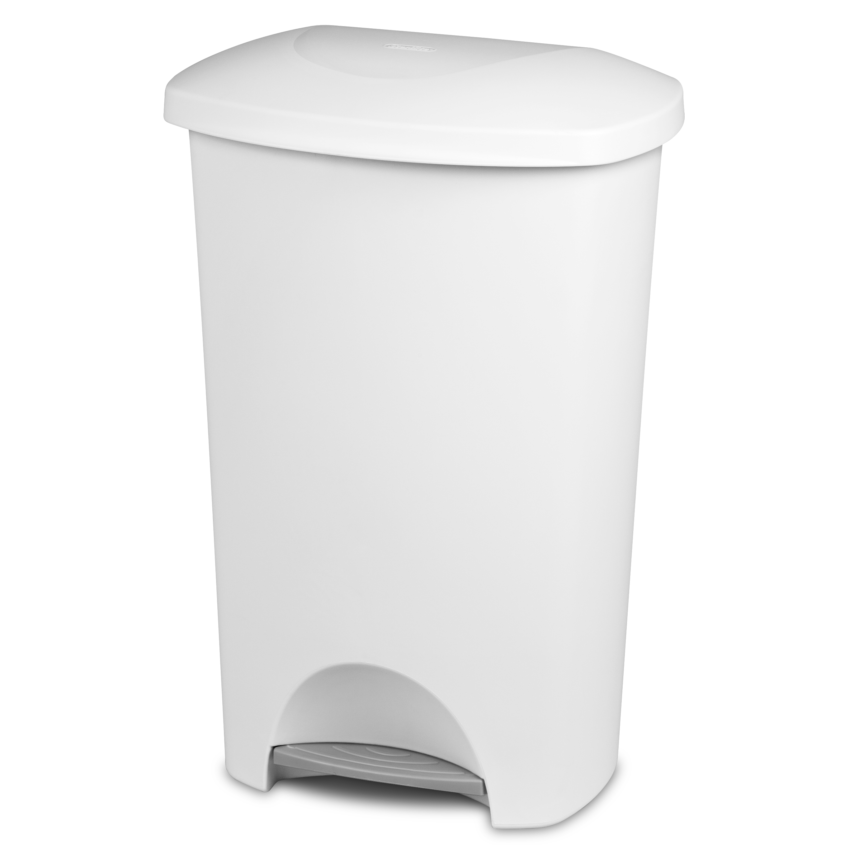 White Sterilite StepOn Wastebasket 1096 Trash Can With Lid 11 Gallon Hands Free