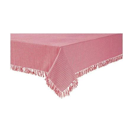 "Homespun 52""x52"" Red Check Woven Reversible Tablecloth, 100% Cotton By Lintex"