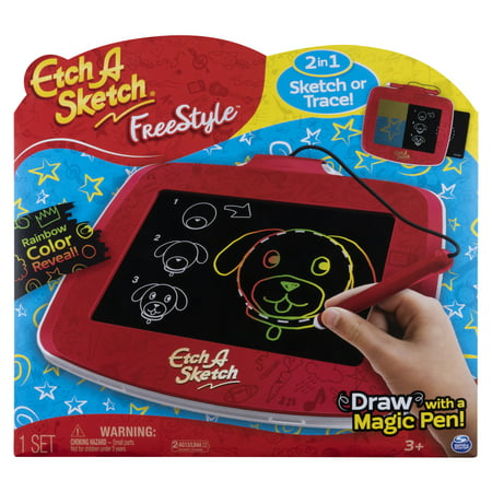 Etch A Sketch Freestyle, 2-in-1 Drawing and Tracing Pad with Magic Pen Stylus (Edition May Vary)