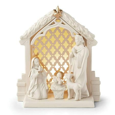 Lenox Illuminations Lit Nativity Scene](Nativity Scene Outdoor)