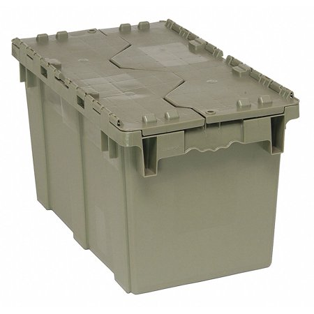 - Attached Lid Container, Gray, 11-7/8