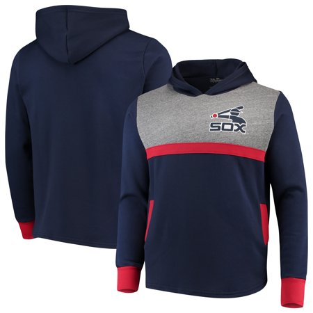 Chicago White Sox Majestic Threads Colorblocked Pullover Hoodie - Navy/Red Chicago White Sox Sweatshirt
