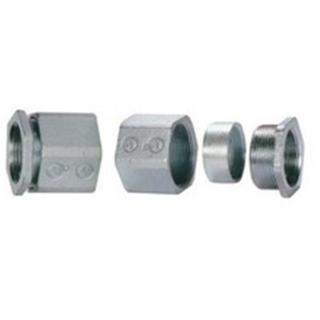 Malleable Rigid 3 Piece Coupling, 0.5 in.