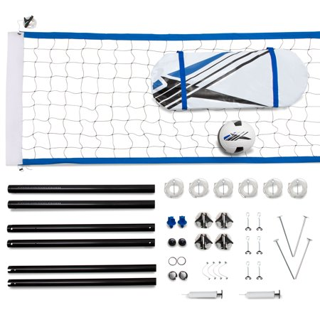 Training Equipment NET100_097D Complete Volleyball Game Set Kit with Accessories