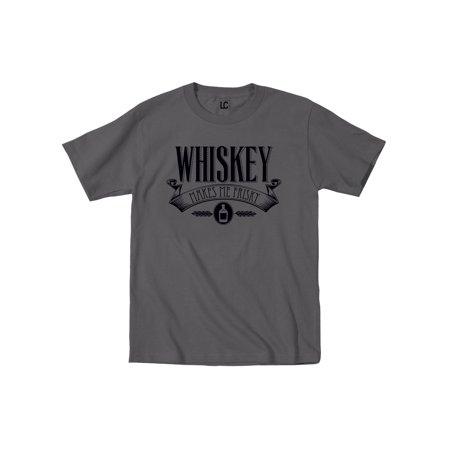 d8cc6deb6 Instant Message - Whiskey Makes Me Frisky - Adult Short Sleeve Tee -  Walmart.com