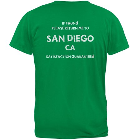 St Patricks Day Return Me to San Diego Irish Green Adult - Adult Store San Diego
