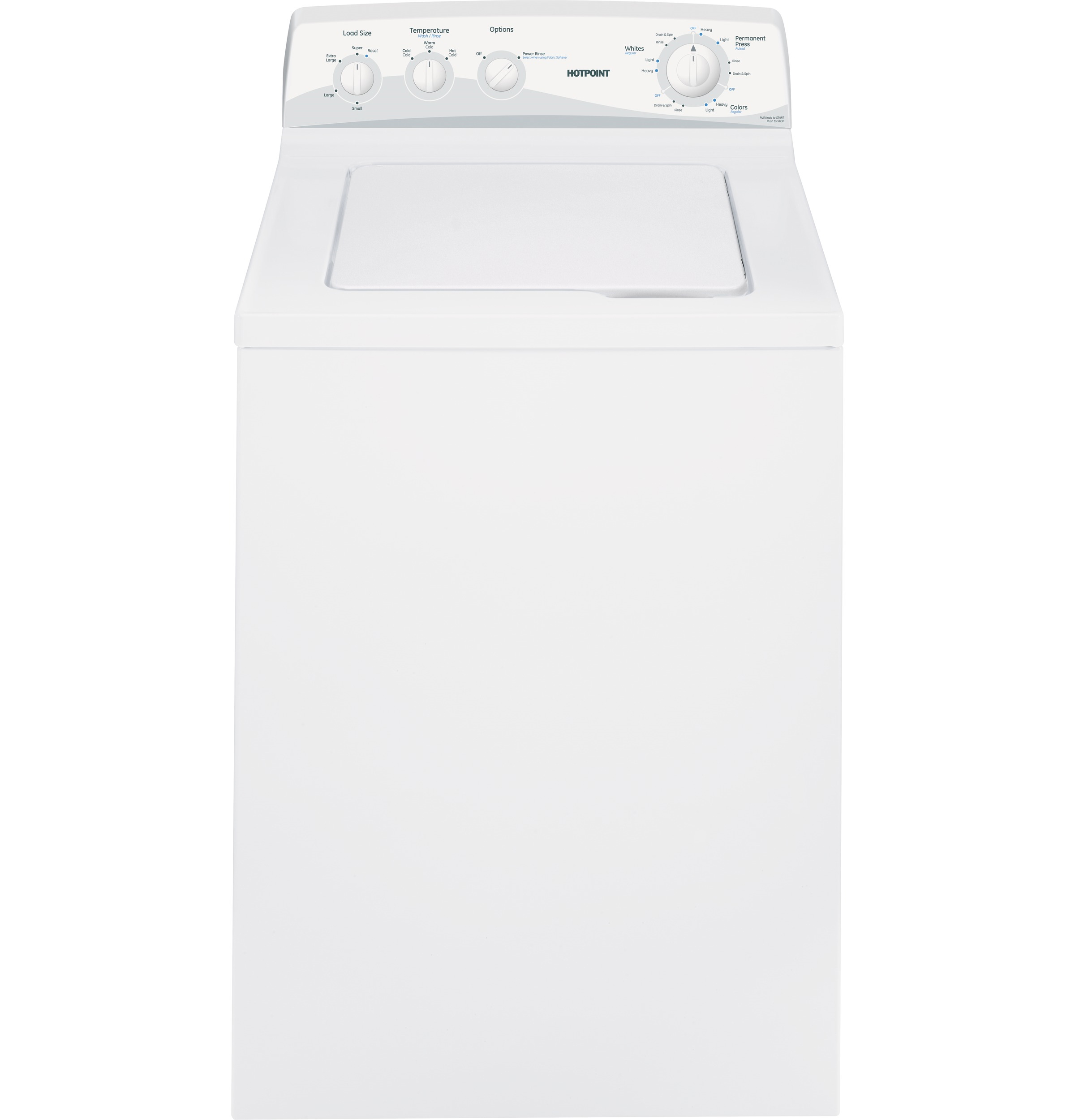 HOTPOINT 3 7 CU FT TOP LOAD WASHING MACHINE WHITE 8 CYCLES