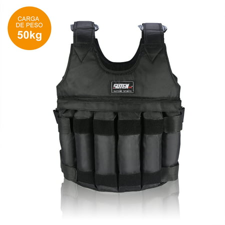 Aramox 110LB 50KG Adjustable Workout Weighted Vest Exercise Strength Training - Adidas Fitness Vest