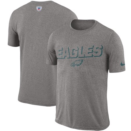 Philadelphia Eagles Nike Sideline Legend Sweat Reveal Lift Performance T-Shirt - Heathered Gray Nike Workout Shirts