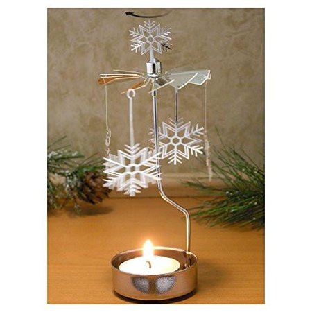 Spinning Snowflake Candle Holder - Snowflake Candles