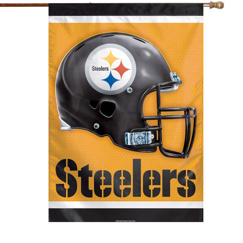 "Pittsburgh Steelers Double-Sided 28"" x 40"" Banner"