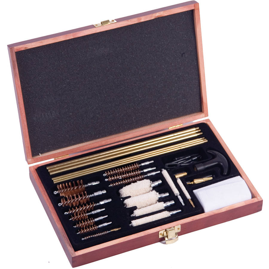 Winchester 42 Piece Deluxe Universal Cleaning Kit Wood Case