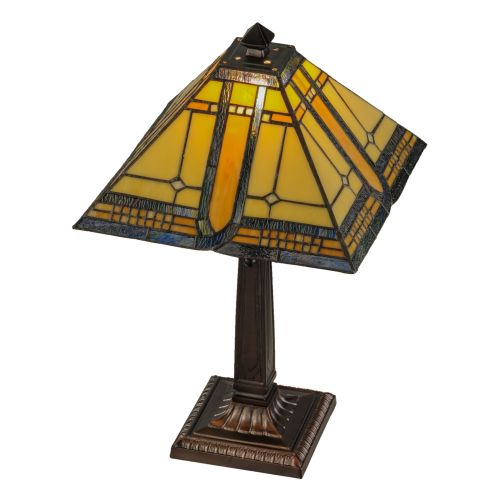 """Meyda Tiffany 147482 Sierra Prairie Mission 1 Light 21"""" Tall Hand-Crafted Table Lamp with Stained Glass by Meyda Tiffany"""