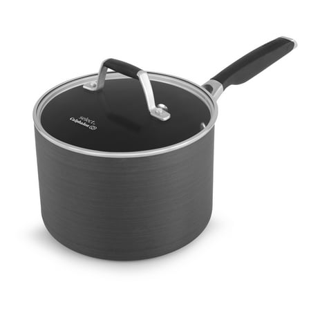 Calphalon Select Non-Stick 3.5 Quart Shallow Sauce Pan with Cover Ceramic Non Stick Saute Pan