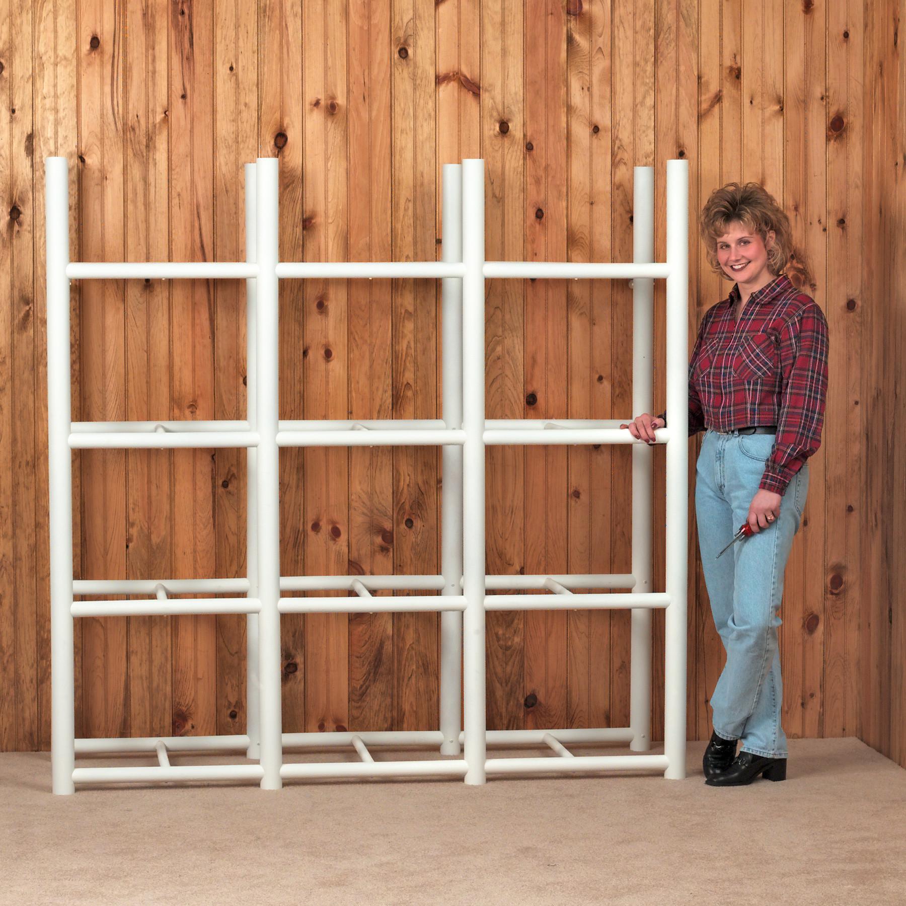 bin warehouse 12 tote storage system h 4 shelf shelving unit walmartcom