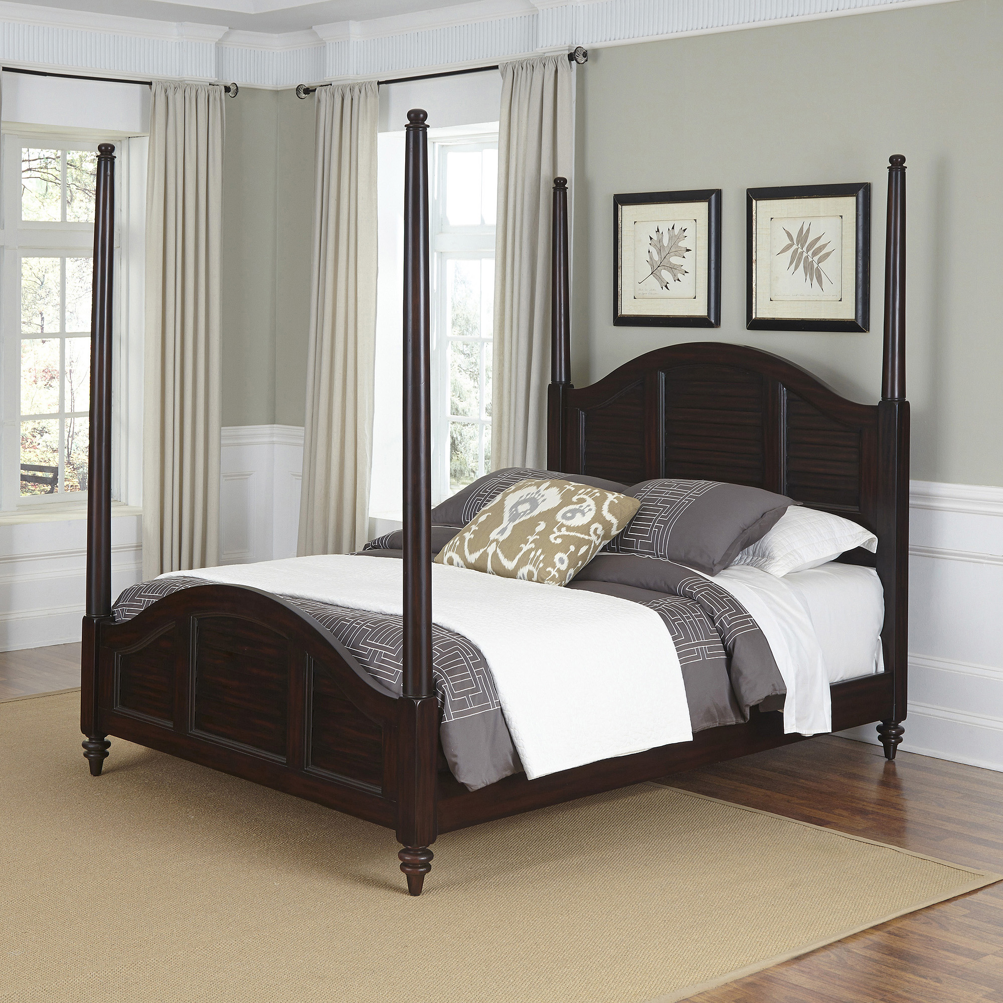 Home Styles Bermuda Queen Poster Bed Espreso Finish by Home Styles