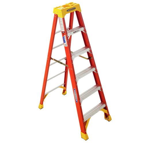 Werner Type Ia Pro Grade Fiberglass Step Ladder, 6' by Werner