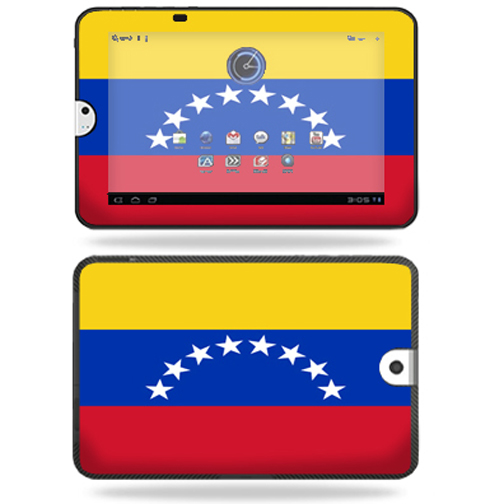 Mightyskins Protective Vinyl Skin Decal Cover for Toshiba Thrive 10.1 Android Tablet wrap sticker skins Venezuelan Flag