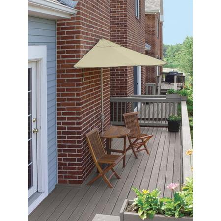 Cc Home Furnishings Oval Wood Beige Patio Set