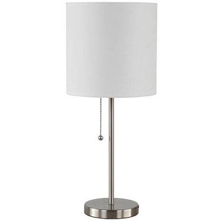 Mainstays Stick Table Lamp with Shade, CFL Bulb Included Iron Table Lamp No Shade