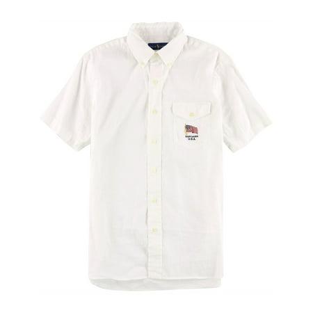 Ralph Lauren Mens Solid Button Up Shirt