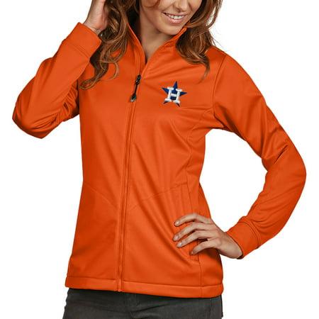 (Houston Astros Antigua Women's Golf Full-Zip Jacket - Orange)