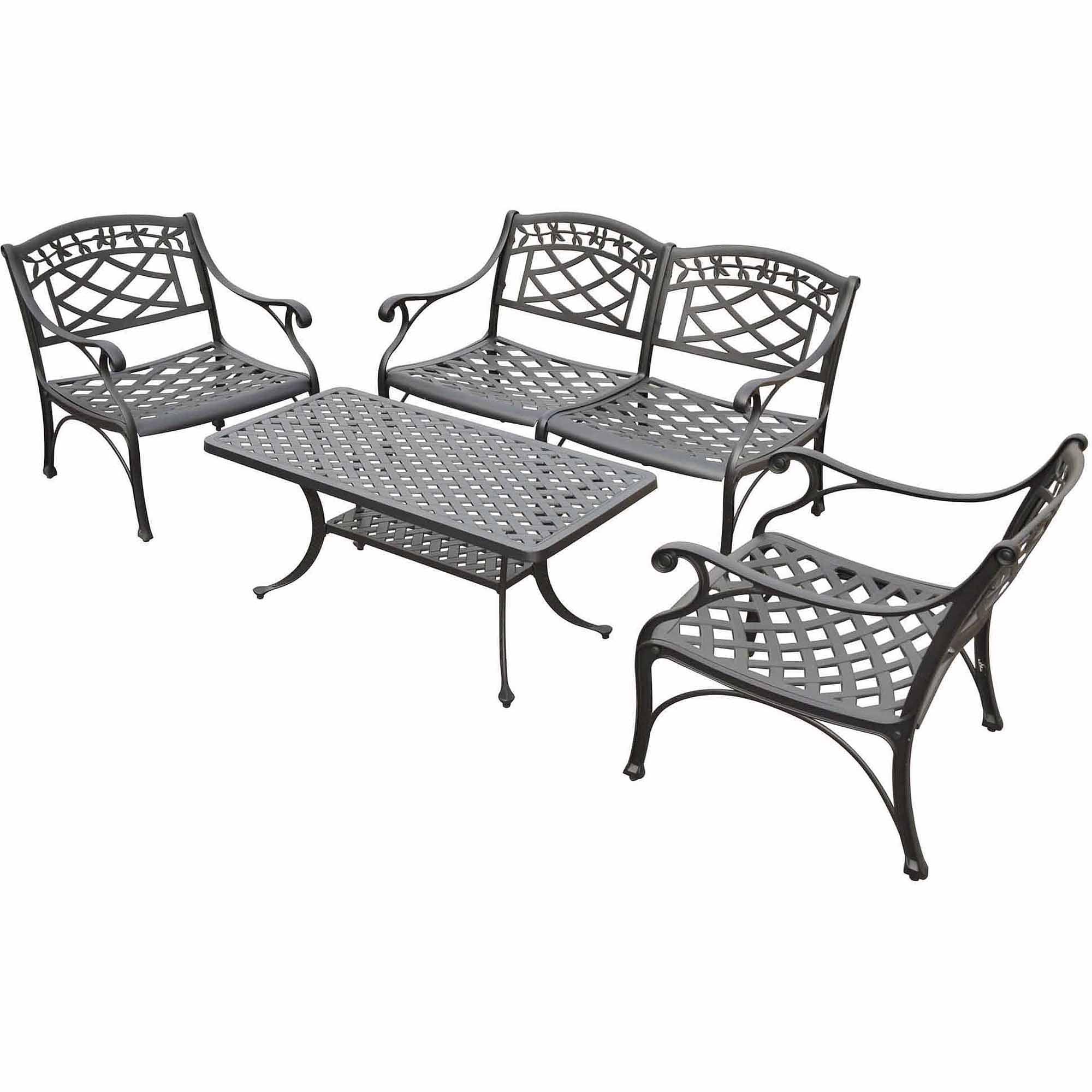 Crosley Furniture Sedona 4 Piece Cast Aluminum Outdoor Conversation Seating  Set   Walmart.com