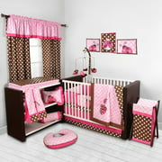 Bacati Lady Bugs Pink Chocolate S 10 Piece Nursery In A