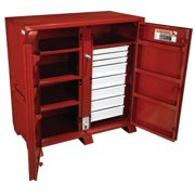 Industrial Cabinets, 60 1/8W x 30 1/4D x 60 3/4H, 2 Doors, 8 Drawers