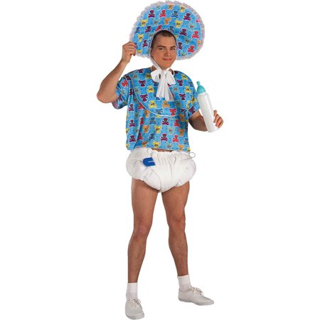 Morris Costumes Adult Humor Mens Comical Baby Kit Blue White One size, Style FM51654](Humorous Adult Costumes)