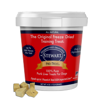 Stewart Pro-Treat Pork Liver Freeze-Dried Raw Dog Treats, 4 oz. Tub