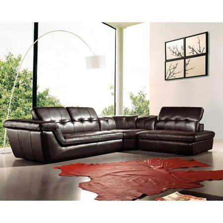 Stupendous Orren Ellis Lola Leather Sectional Walmart Com Caraccident5 Cool Chair Designs And Ideas Caraccident5Info