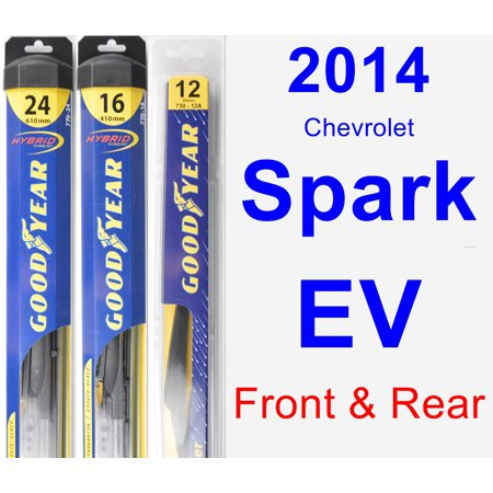 2014 Chevrolet Spark EV Wiper Blade Set/Kit (Front & Rear) (3 Blades) - Rear - Bladed Spear
