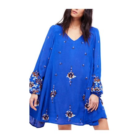 Free People Womens Oxford Embroidered A-line Dress lilaccombo XS - image 1 of 1