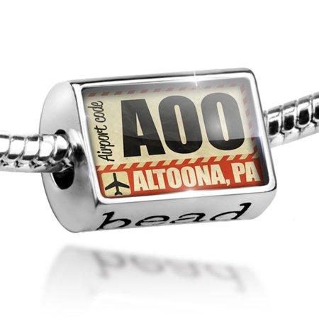 Bead Airportcode AOO Altoona, PA Charm Fits All European Bracelets (Party City Altoona Pa)