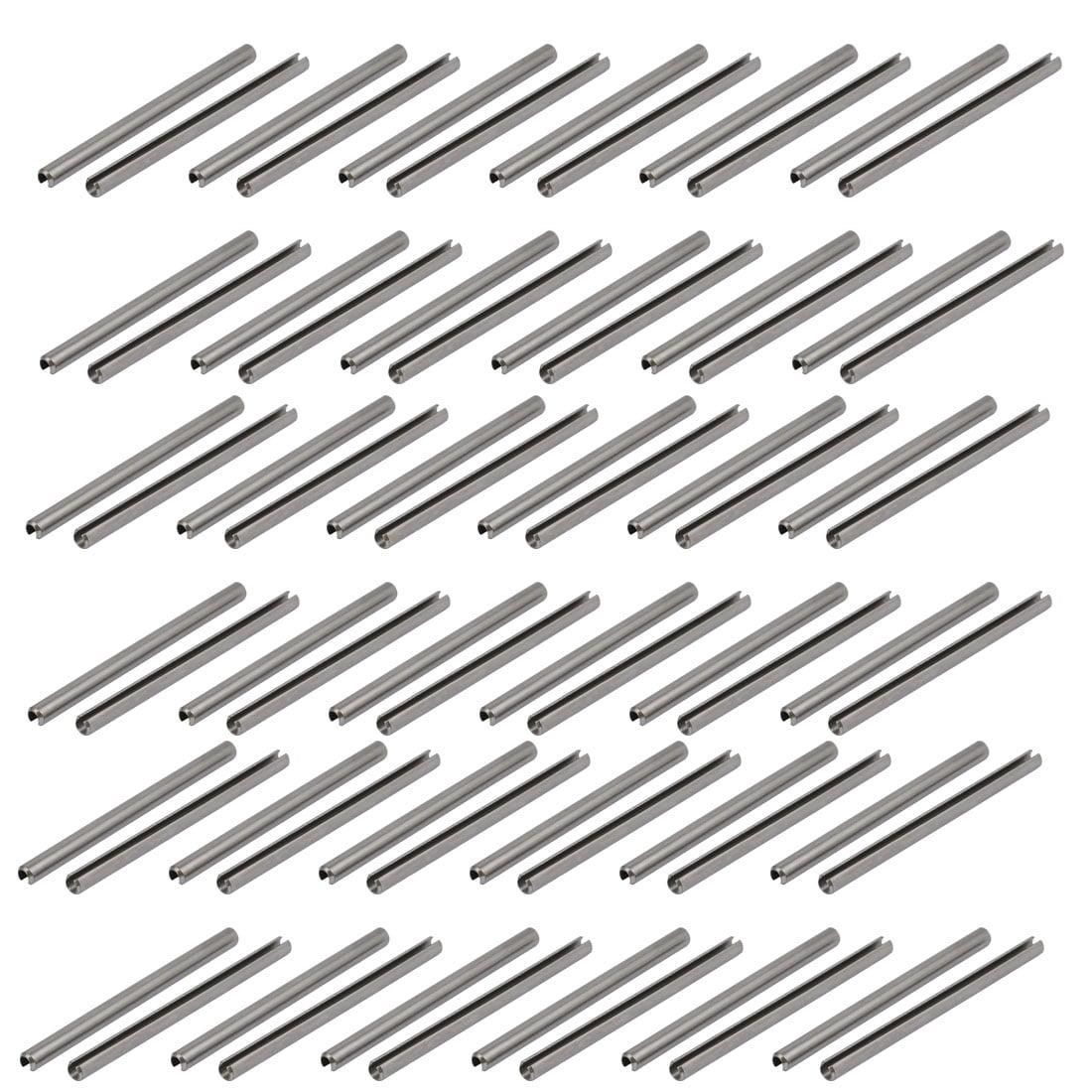 Unique Bargains M3x50mm 304 Stainless Steel Split Spring Dowel Tension Roll Pin 50pcs - image 3 de 3
