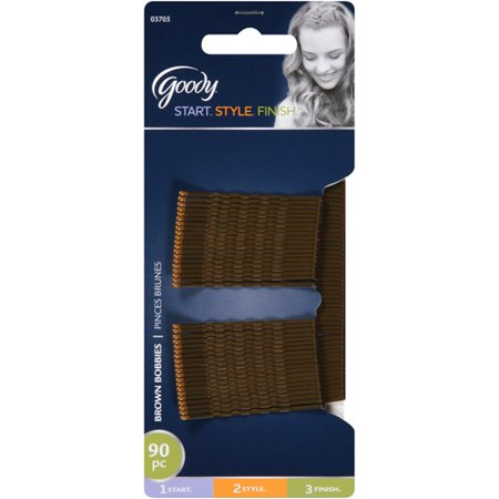 Goody Bobby Pins, Brown Hair Pins, Secure Hold, 90 (Hair Pin Lace Vest)