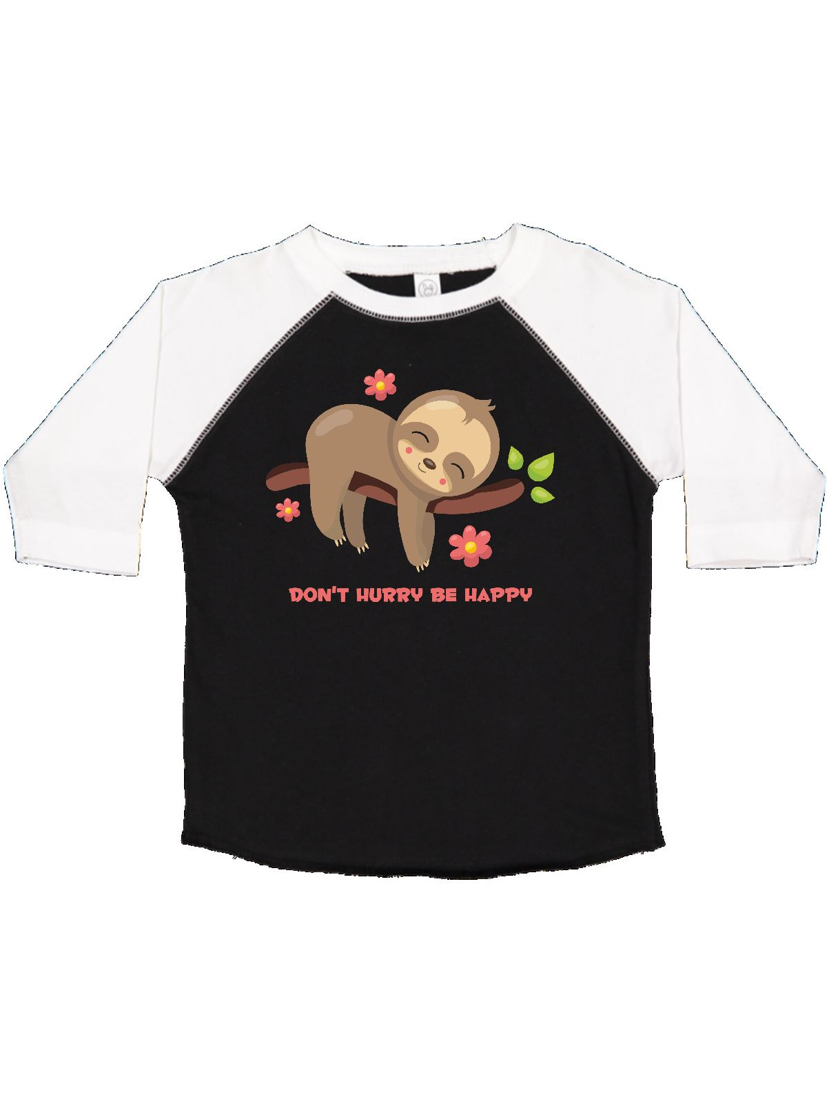 Don/'t Hurry Be Happy Slow Living Sloth Youth Kids T-Shirt Gift Idea