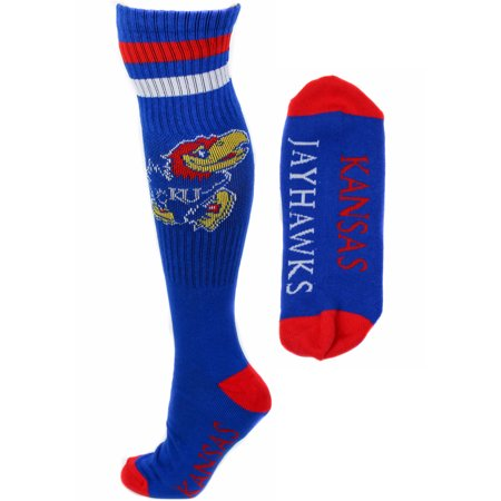 Kansas Jayhawks Blue Tube Socks