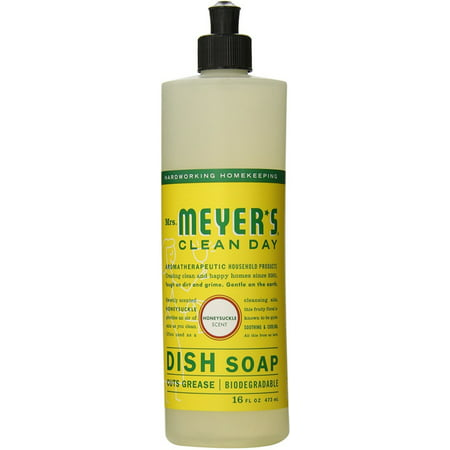 Mrs  Meyers Clean Day Liquid Dish Soap  Honeysuckle  16 Fl Oz