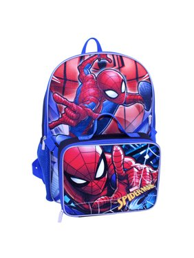 Marvel Boys Spiderman Backpack with Lunch