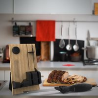 Electric Carving Knife Set with Wood Storage Block By Classic Cuisine