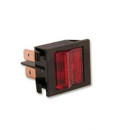 46F1858 Eaton 2600Hr11E Switch, Rocker, Dpst, 16A, 250V, Red ()