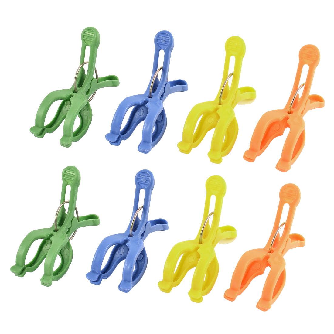Plastic Clothes Socks Pants Airing Clips Clothespins Hanger Multicolor 8pcs