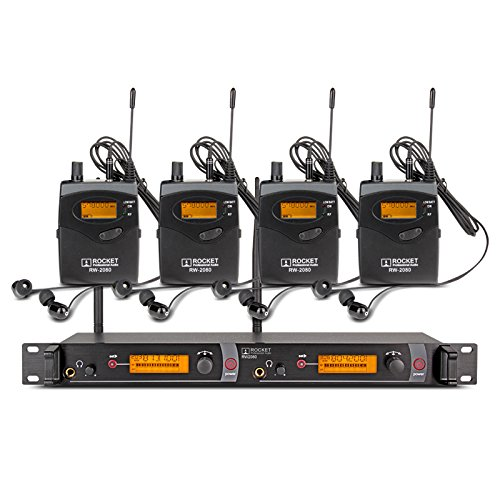 Top Quality!! Rocket Audio RW2080 In Ear Monitor System 2...